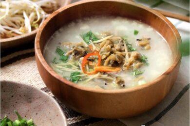 Cách nấu cháo nghêu đậu xanh