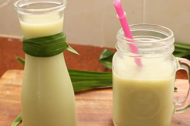 cách nấu sữa hạt sen lá dứa