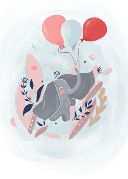 hình ảnh ngộ nghĩnh - tranh vẽ chú voi