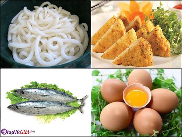 nguyên liệu làm bánh canh chả cá Nha Trang
