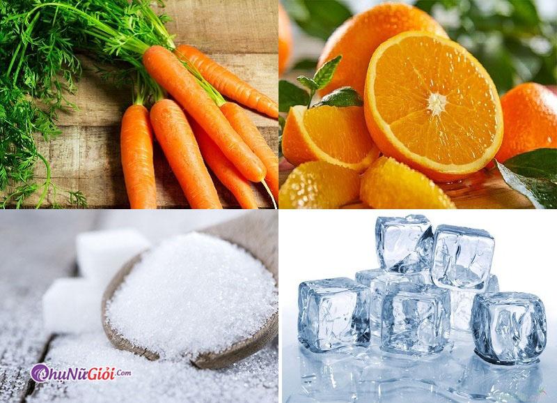 nguyên liệu làm cà rốt cam tươi