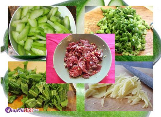 nguyên liệu nấu canh bí đao gầu bò