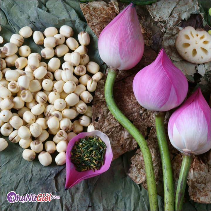 Nguyên liệu nấu chè đậu đỏ hạt sen