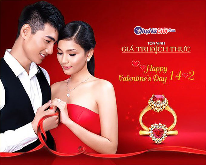 phụ nữ và valentine đẹp lãng mạn