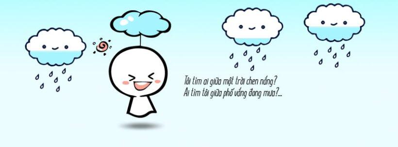 ảnh bìa facebook cute về đám mây dễ thương