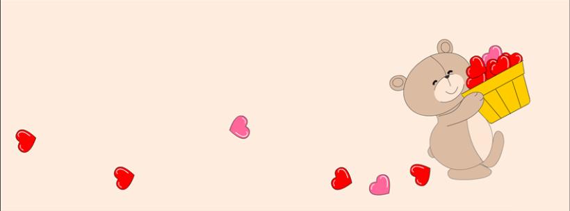 ảnh bìa fb cute gấu dễ thương