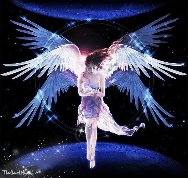 ảnh thiên thần mạnh mẽ cực ngầu