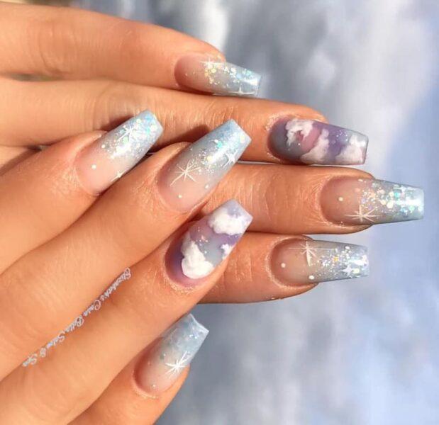 Các mẫu nail đám mây Ombre (11)