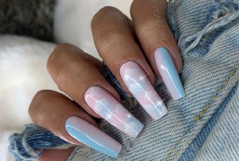 Các mẫu nail đám mây Ombre (6)