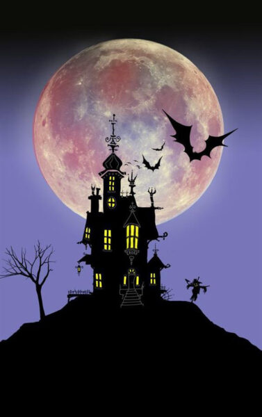 Hình ảnh ngôi nhà ma trong lễ hội Halloween