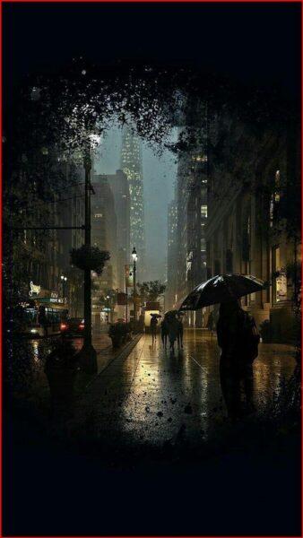 Hình ảnh Sài Gòn đêm mưa buồn