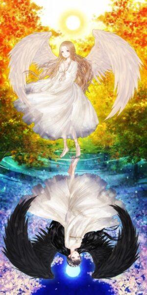 Hình ảnh thiên thần in bóng xuống nước đẹp