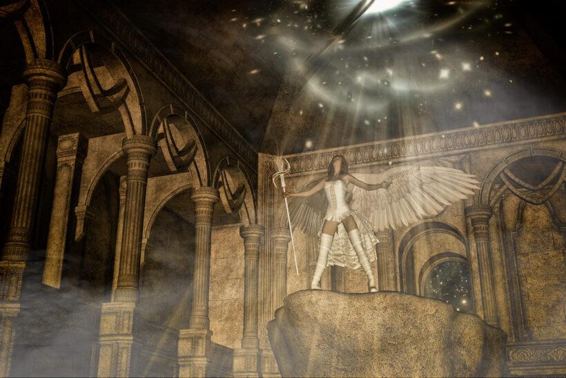 Hình ảnh thiên thần trong nhà thờ
