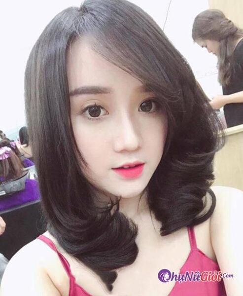 Hình ảnh tóc đẹp dành cho người khuôn mặt dài