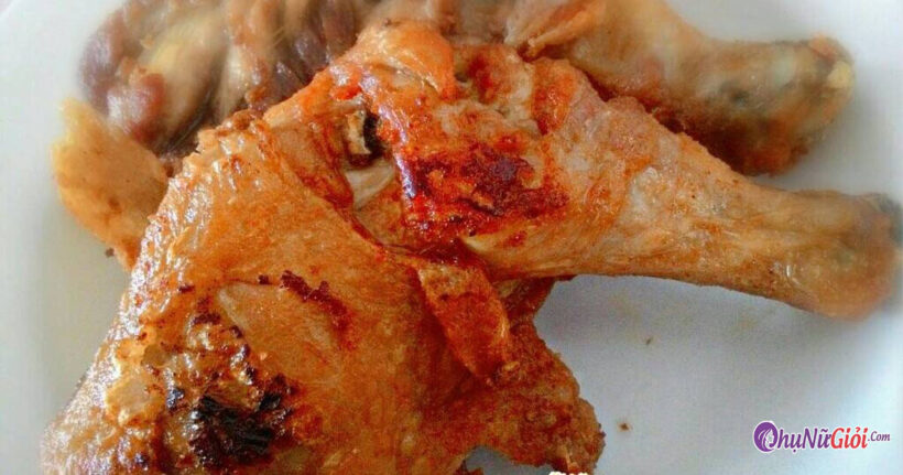 Hoàn thành cách làm gà rán không tẩm bột