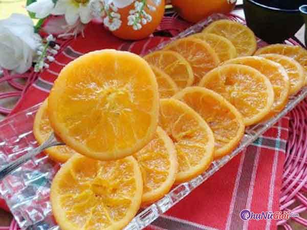 Hoàn thành cách làm mứt cam kiểu truyền thống