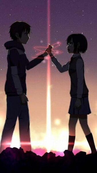 hình ảnh yêu xa anime dễ thương cute từ phim yourname