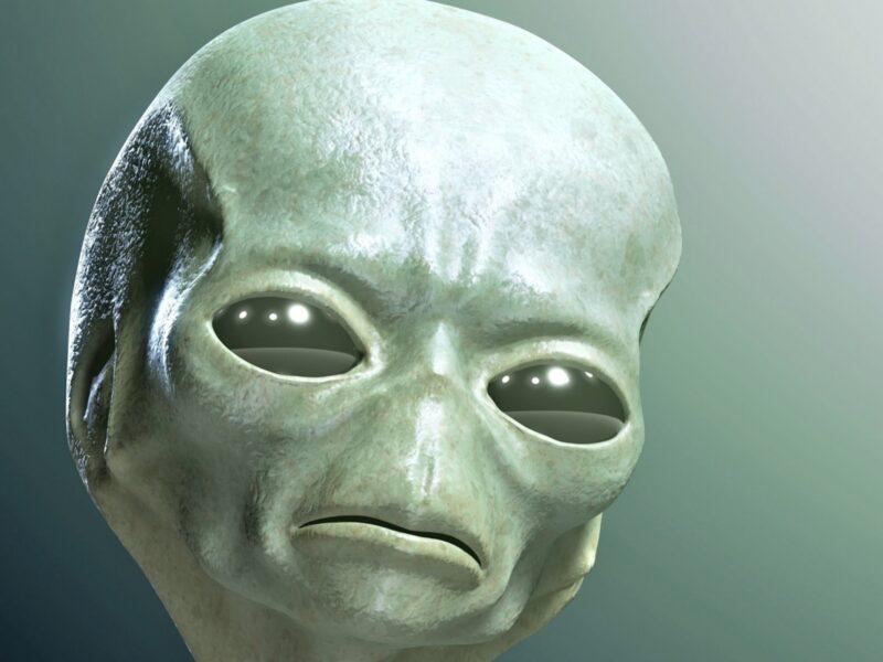 Hình ảnh người ngoài hành tinh với chiếc đầu to