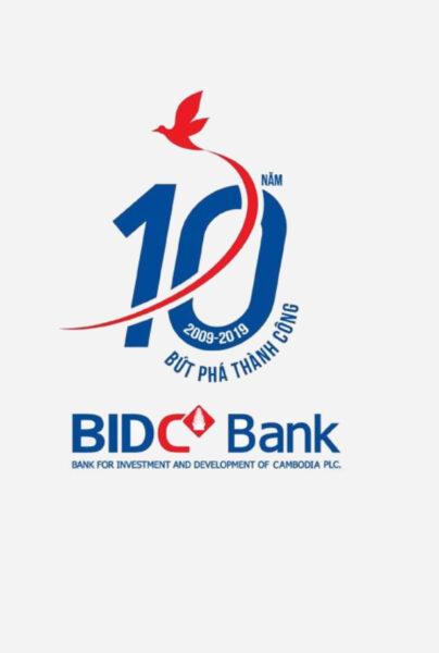 Mẫu logo kỷ niệm 10 năm đẹp của BIDC Bank