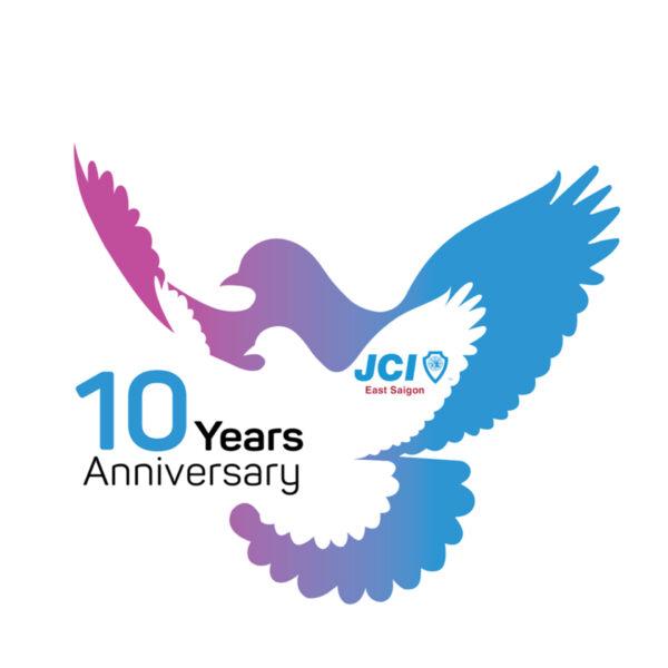 Mẫu logo kỷ niệm 10 năm JCI
