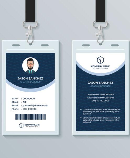 Mẫu thẻ nhân viên đẹp dành cho các công ty