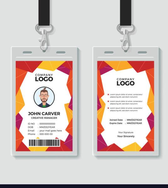 Mẫu thẻ nhân viên đẹp nhiều màu sắc