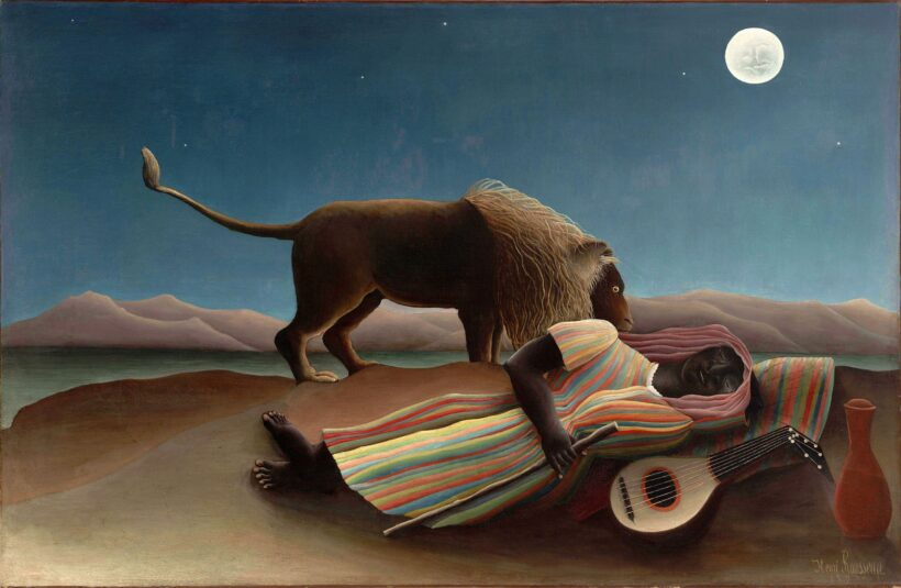 Bức tranh Gypsy đang ngủ của Henri Rousseau đẹp nổi tiếng thế giới