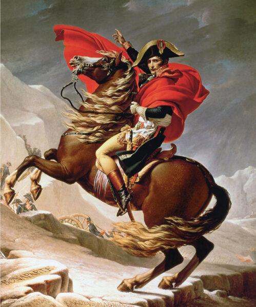 Bức tranh Napoleon vượt dãy An Pơ đẹp nổi tiếng thế giới