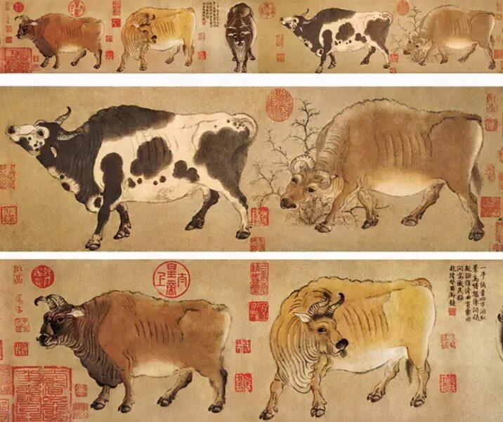 Bức tranh Ngũ Ngưu Đồ đẹp nổi tiếng thế giới của Trung Quốc