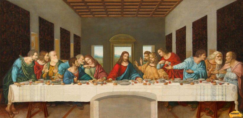 Bức tranh bữa ăn tối cuối cùng của Da Vinci đẹp nổi tiếng thế giới