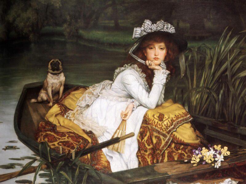 Bức tranh cô gái ngồi dưới thuyền đẹp nổi tiếng thế giới