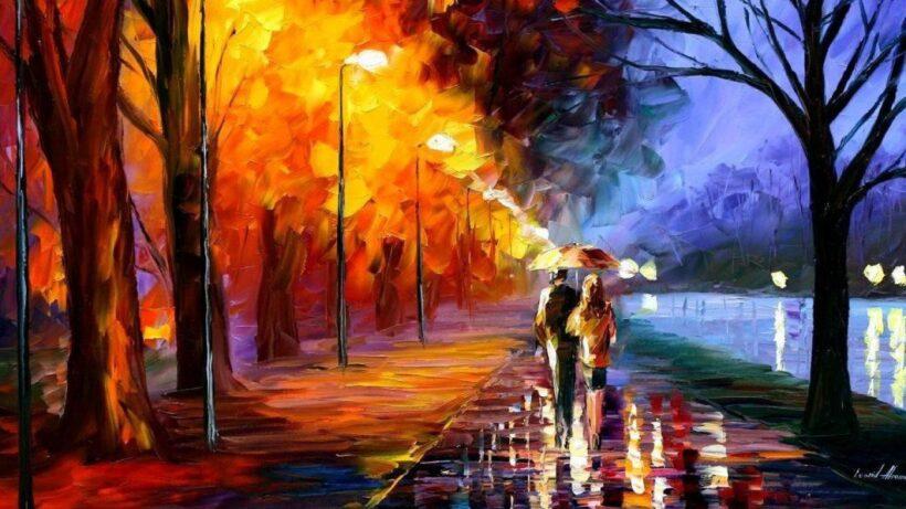 Bức tranh phong cảnh về đêm mưa đẹp nổi tiếng thế giới
