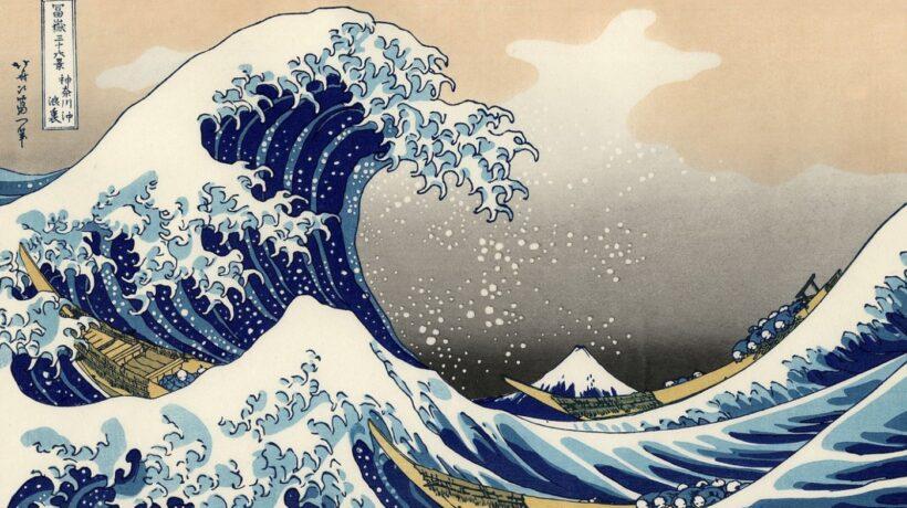 Bức tranh sóng lừng núi Phú Sĩ của Nhật Bản đẹp nổi tiếng thế giới