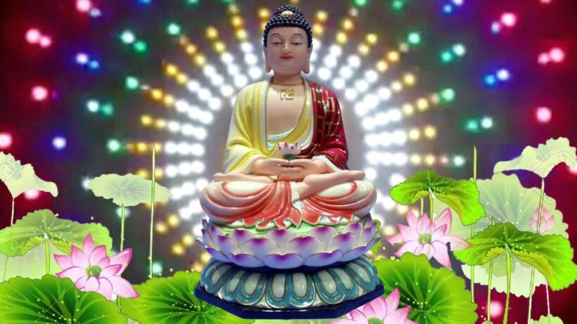 Hình ảnh Phật A Di Đà ngồi trên đài Sen