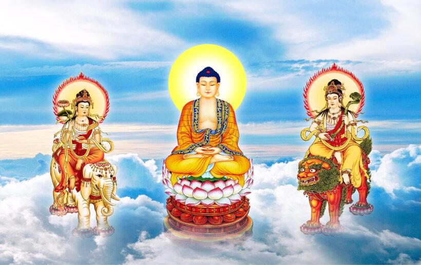Hình ảnh Phật A Di Đà trong tam thánh