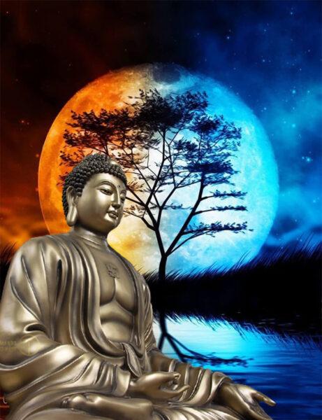 Hình ảnh Phật A Di Đà với tư thế uy nghiêm