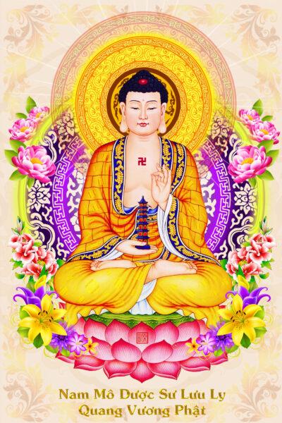 Hình ảnh Phật Dược Sư thiền định