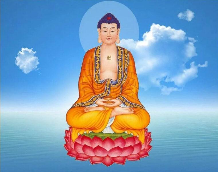 Hình ảnh Phật Dược Sư toạ trên đài Sen