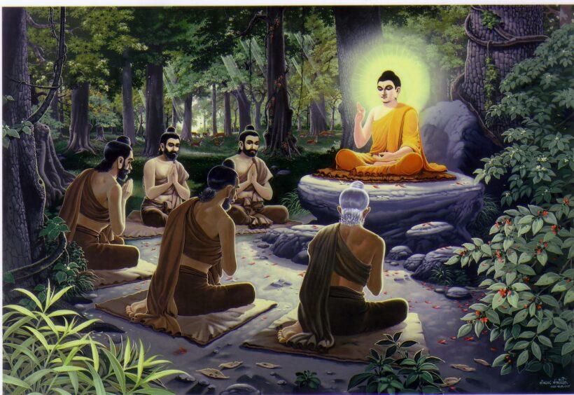 Hình ảnh Phật Thích Ca Mâu Ni giảng đạo