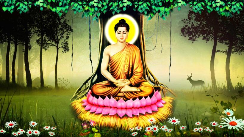 Hình ảnh Phật Thích Ca Mâu Ni ngồi trên đài Sen
