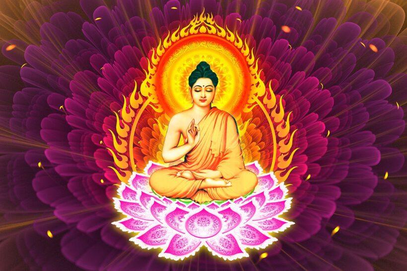 Hình ảnh Phật Thích Ca Mâu Ni toả hào quang đẹp