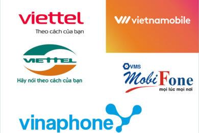 Hình ảnh logo viettel, mobifone, vinaphone, vietnamobile đẹp nhất