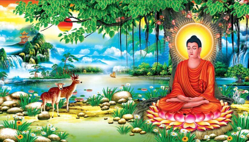 Hình ảnh tranh Phật Thích Ca Mâu Ni 3D