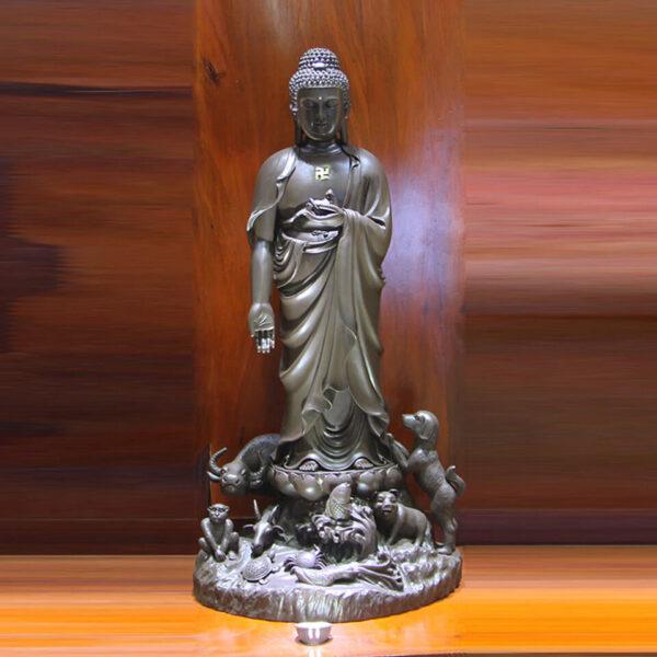 Hình ảnh tượng Phật A Di Đà đứng đẹp