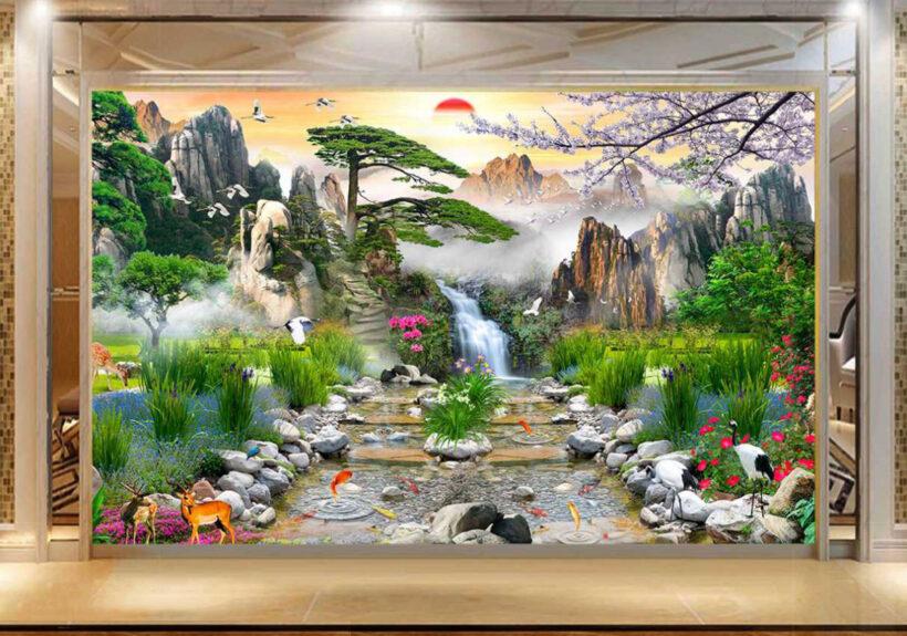 Tranh tường 3D đẹp phong cảnh