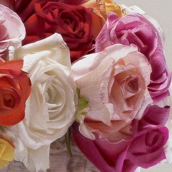 Tranh vẽ hoa Hồng nhiều màu sắc đẹp