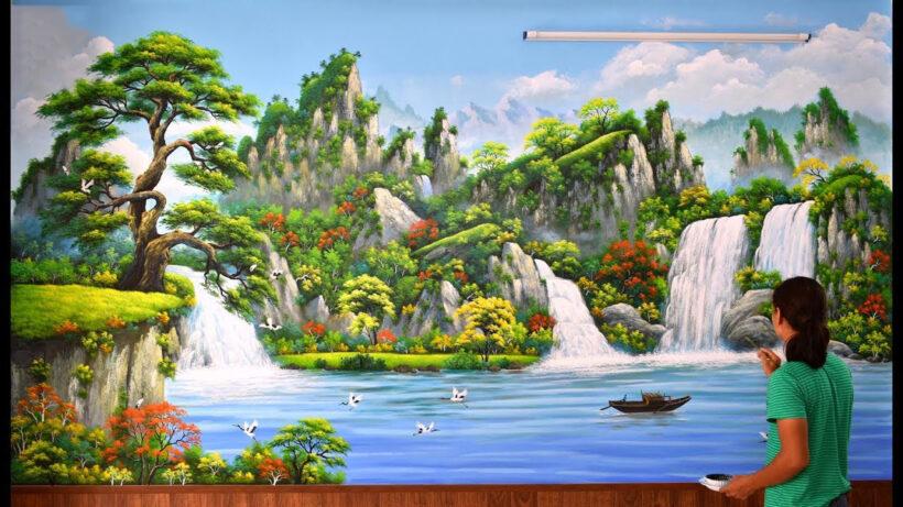 Vẽ tranh 3D phong cảnh đẹp