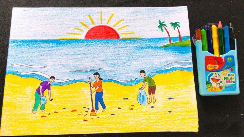 Vẽ tranh đề tài cuộc sống quanh em bảo vệ môi trường đẹp