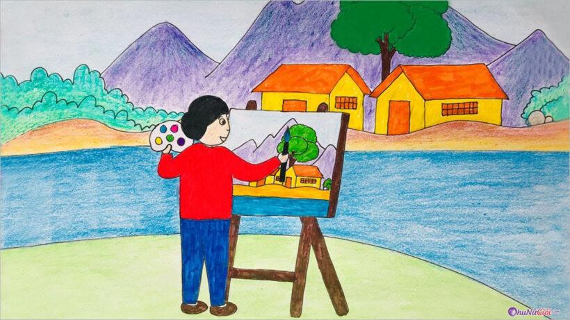 Vẽ tranh đề tài ước mơ của em đơn giản, đẹp nhất