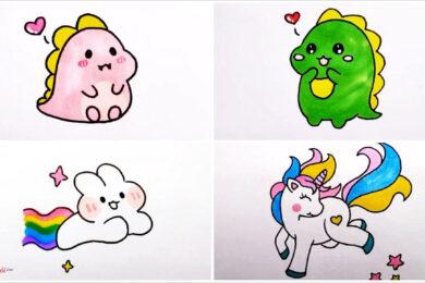 Vẽ tranh dễ thương, cute, đáng yêu nhất